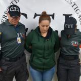 Ginna Ricardo Cantillo, capturada por agentes del CTI.