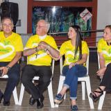 Ricardo Insignares, Víctor Tamayo, Cristina Amórtegui y Ana María Gallo durante la rueda de prensa.