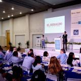 El director del Departamento Nacional de Planeación, Luis Fernando Mejía, en su intervención.