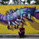 Mural del artista plástico Omar Alonso.