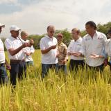 Gobernador Eduardo Verano, y su secretario de Desarrollo, Anatolio Santos, de la mano del presidente de la ADR, Carlos Eduardo Géchem, transformarán agro.