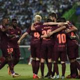 Barcelona gana 1-0 al Sporting en Lisboa con gol en contra de Coates