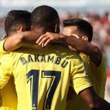 El delantero congoleño Cédric Bakambu anotó los dos goles de la victoria del Villarreal.