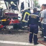 Choque entre busetas en la calle 30 deja 24 heridos