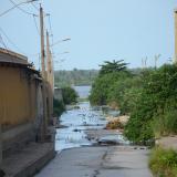 Desembocadura del arroyo del Country, sitio donde fue hallado el torso.