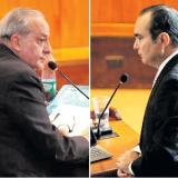 Víctor Pacheco, abogado.Jorge Pretel, durante la audiencia.