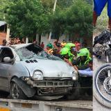 Dos muertos y dos policías heridos en accidente de tránsito en Santa Marta