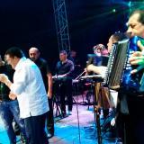 Silvestre Dangong y Poncho Zuleta durante su presentación en Bogotá.
