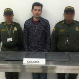 Capturan en Cartagena a 'mula' argentina con cinco kilos de cocaína