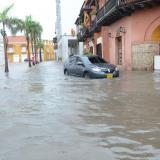 Lluvias en Cartagena ocasionan deslizamientos en dos barrios