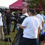 Periodistas brasileños trabajando en Barranquilla.