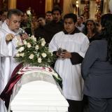 Amigos y familiares se hacen presentes en la Exequias de la niña Yuliana Samboní asesinada en Bogotá.
