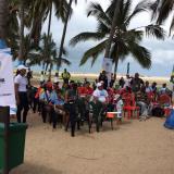En busca de la 'Bandera Azul', realizan jornada de educación en playas de Riohacha