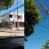 Daños en postes generan fallas en el servicio de energía de dos barrios de Barranquilla