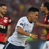 Ezequiel Barco celebra su gol de tiro penal