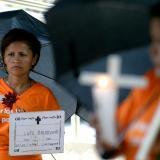 Madre de una persona desaparecida como resultado del conflicto armado.