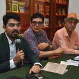 Eduardo Escolar junto a Ignacio Consuegra y Joaquín Armenta.