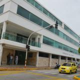 Fachada de la Gobernación de La Guajira, en el centro de Riohacha.