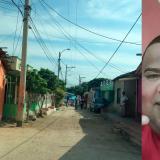 Lugar donde se presentaron el asesinato de alias Venezolano (a un lado).