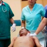 Jonatán Montalvo Camargo cuando era atendido en el hospital General de Barranquilla.