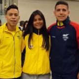 Shanee Torres, Luis y Leonardo Triviño, compiten en París