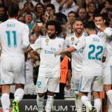 El Real Madrid celebrando en el estadio Santiago Bernabéu.