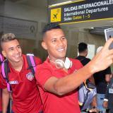 Narváez, Cantillo y Sánchez posando para una selfie.