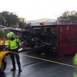 Accidente de tránsito en la calle 30 deja más de cinco personas heridas