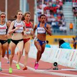 La atleta Muriel Coneo ganó la medalla de oro en la prueba de los 1500 metros del atletismo de los XVII Juegos Panamericanos Toronto 2015 contra Brasil.