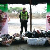 Caen 809 kilos de carne y queso de contrabando en La Guajira que iban para Barranquilla