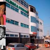 Imagen de la clínica Porvenir, de Soledad. En los recuadros, Yeudith Martínez Mejía, falsa médica que se encuentra huyendo y Ray Fontalvo Gálvez, el fallecido.