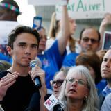 El estudiante Davig Hogg, uno de los líderes que presionar a legisladores sobre restricción de armas.