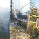 Incendio arrasa con seis casas en Puerto Colombia