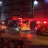 Emergencia por incendio en clínica