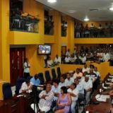 Aspecto de un debate en el Concejo de Cartagena.