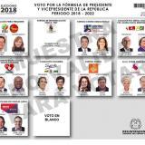 Así quedó la tarjeta electoral para la primera vuelta presidencial