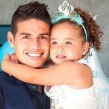 La conmovedora reacción de la hija de James durante el partido de Colombia vs. Francia