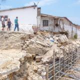 Cinco familias reubicadas por la canalización de un arroyo