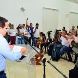 Rafael Martínez, durante una rueda de prensa.
