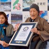 Masazo Nonaka recibió este martes el certificado del Guinness de los Récords.