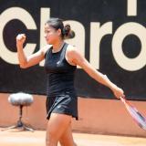 La tenista barranquillera María Fernanda Herazo celebrando en Bogotá.