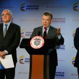 El presidente Juan Manuel Santos en su declaración de este jueves al culminar la reunión de la Comisión Nacional de Moralización.