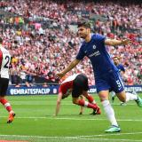 Álvaro Morata celebrando su gol.