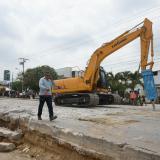 Con perforación de pavimento inician obras en La Cordialidad