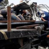 Conductor de vehículo cisterna muere incinerado tras chocar con otro camión en Ciénaga