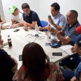 La reunión del Comité de Emergencia fue presidida por el secretario de Gobierno, Clemente Fajardo.