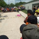 Sitio donde quedó tenido el cuerpo de la víctima.