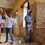 El alcalde Herrera y el secretario de Cultura inspeccionan los trabajos en el Museo Bolivariano.