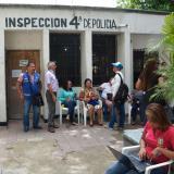 Centros policiales en el Hipódromo: deterioro, grietas y alcantarillas rotas