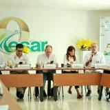 Aspecto de la reunión que realizan los gobernadores de la Costa Caribe, en Valledupar.